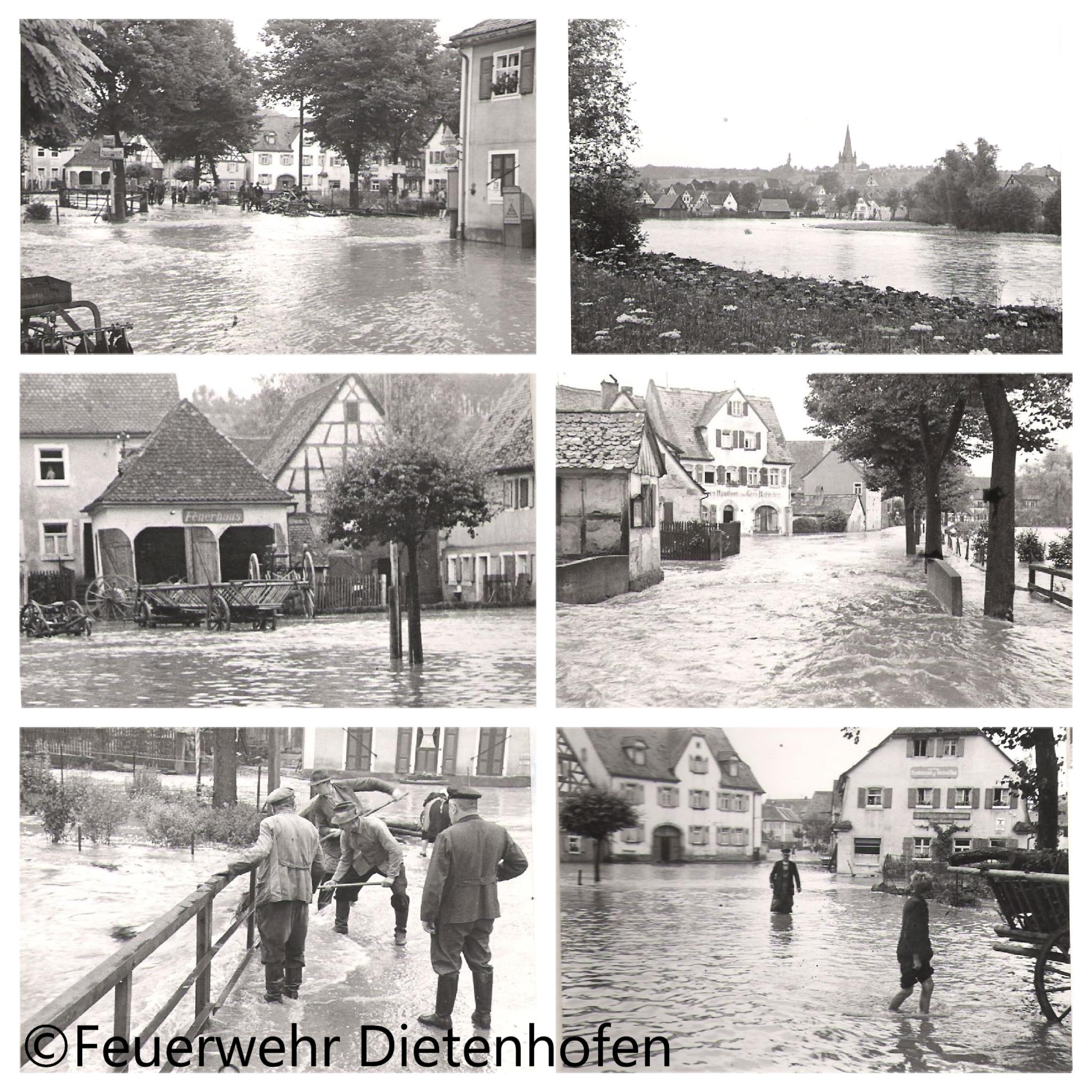 Die Feuerwehr Dietenhofen im Wandel der Zeit – Hochwasser im 2. Weltkrieg