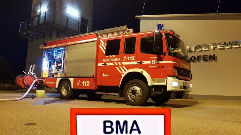 21.10.2020 BMA Alarm/ Eingedrückter Handmelder