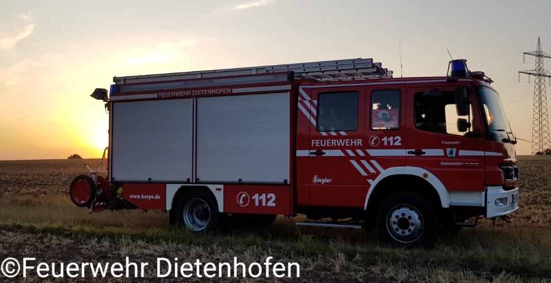 06.10.2019 Traktorbrand