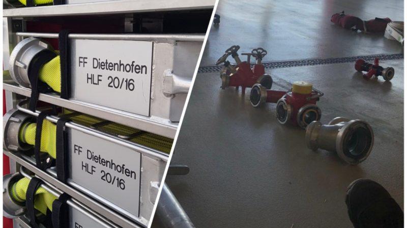 Übungen zur Löschwasserentnahme