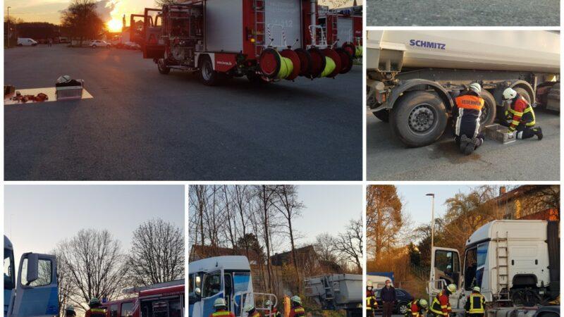 Übung: Technische Rettung am LKW