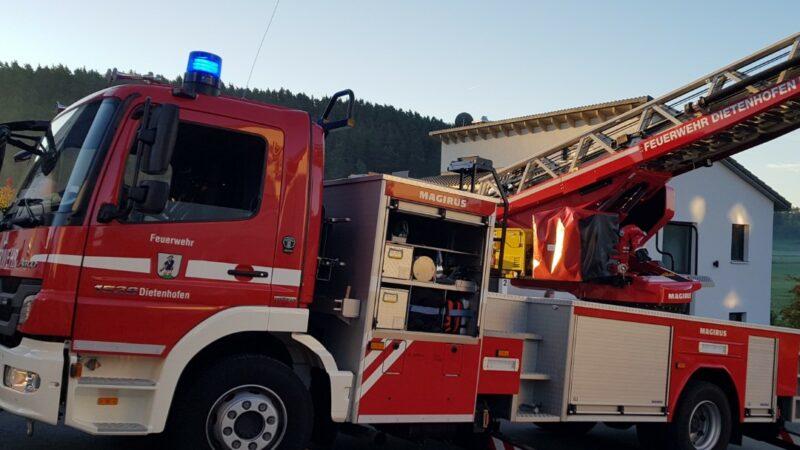 20.10.2021 Unterstützung Rettungsdienst/ Drehleiterrettung